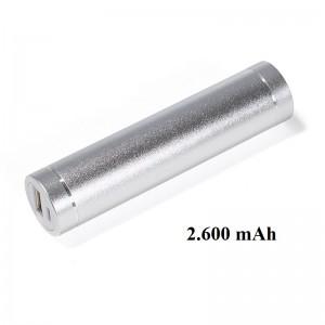 Powerbank silber 2600 mAh