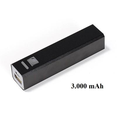 Powerbank schwarz eckig 3000 mAh