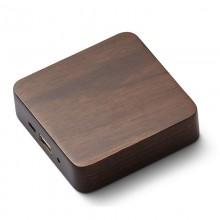 Quadratische Holz Powerbank